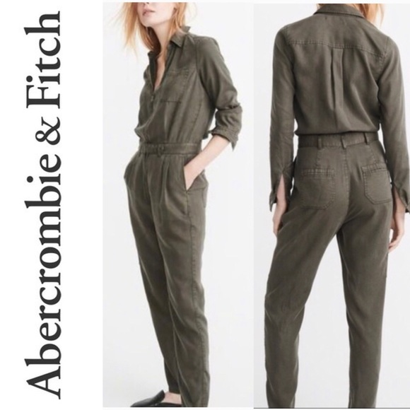 e823cc44d52 Abercrombie   Fitch Pants - Abercrombie   Fitch Army Green Utility Jumpsuit  8